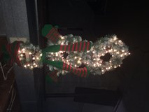 Indoor/Outdoor Snowman Wreath, 4' in length, lit with 100 clear/white frost bulbs (not battery o... in Brookfield, Wisconsin
