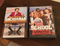 Anchorman/Old School DVDs in Plainfield, Illinois