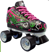 Black Pacer Heart Throb Speed Skates-Size 5 in Naperville, Illinois