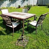 Handover bronze aluminum dining 6 Piece Chair and table set in Camp Lejeune, North Carolina