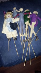 Puppet set. 5 figurines easy to use in Yucca Valley, California
