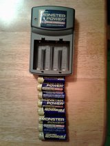 Monster Power Rechargeable Batteries & Charger in Oswego, Illinois
