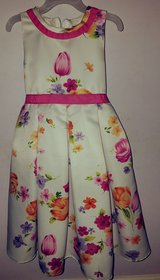 Girls Formal wear Cream and multi color dress in Camp Lejeune, North Carolina