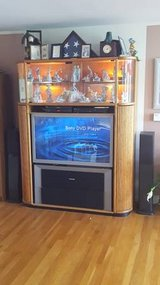 CURIO/ENTERTAINMENT CABINET - Complete with HDTV, Surround Sound, DVD player & VHS player in Naperville, Illinois