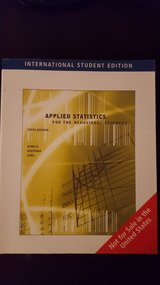 Applied Statistics for The Behavioral Sciences 5th Edition Hinkle, Wiersma, Jurs in Byron, Georgia