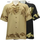Tommy Bahama Men's Silly Lily Camp Short Sleeve Button Up Med SILK T31543 Island Island Palm Tre... in Houston, Texas