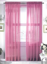 """Selected Colors Hi Count Voile Curtain Panel Rod Pocket Top Size 60"""" W x 90"""" L Made in USA in Wilmington, North Carolina"""