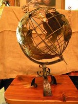 Handcrafted Metal Globe on stand in Spring, Texas