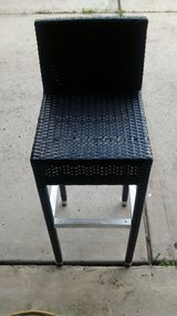 """Black Woven Bar Stool 15""""x30""""x40"""" in The Woodlands, Texas"""