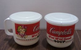 Vintage Pair Collectible Campbell's Soup Mugs  w/Lids in Houston, Texas