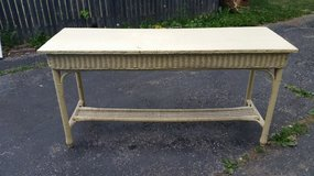 Nice Wood and Rattan Sofa Table in Naperville, Illinois