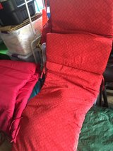 Orange/Red Chaise Lounge Cushion in Beaufort, South Carolina