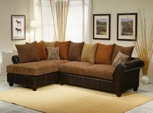 NEW! BRAND UPSCALE STYLING SOFA CHAISE SECTIONAL  LIVING ROOM SET !! in Camp Pendleton, California
