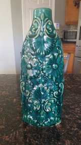 Gorgeous floral green teal vase in Lockport, Illinois
