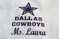 NEW Dallas Cowboys NFL Towel Star Blue Embroidered Ms Laura Golf Hand Dez Dak in Kingwood, Texas