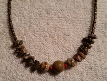 "Handcrafted Beaded Necklace, Glass Beads and Agate Gemstones, 20"" Long in 29 Palms, California"