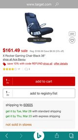 X Rocker Gaming Chair Black Leather Like New in Naperville, Illinois