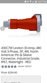 Bryant 430ctw. Pin&sleeve plug & connectors in Yorkville, Illinois