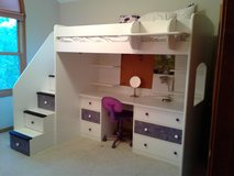 Berg Twin Loft Bed w/ Desk and Stairs **NEW PRICE** in Oswego, Illinois