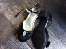 Black dress shoes.  Size 2 in Yorkville, Illinois