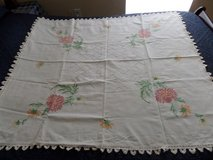 Large Vintage Linen Tablecloth in Kingwood, Texas