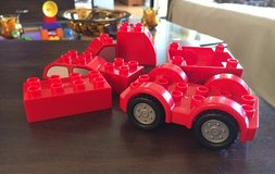 Red Duplo Pieces in Naperville, Illinois