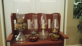 Antique / Vintage Oil Lamps (4) Available in Glendale Heights, Illinois