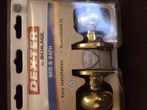 schlage dexter bed and bath double knobs - $12 in Naperville, Illinois