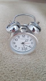 Sterling and Noble Silver Alarm Table Clock in Chicago, Illinois