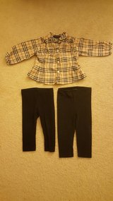Burberry Girls 12-18 month plaid shirt in Chicago, Illinois