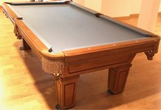 Delivered, Installed, New cloth, Accessory Kit 8 ft. World Of Leisure Pool Table in Naperville, Illinois