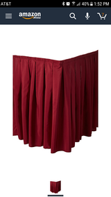 14 ft velcro table skirt in St. Charles, Illinois