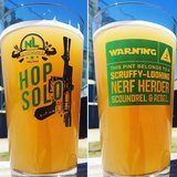 """STAR WARS """"HOP SOLO"""" Pint Glasses by No Label Brewing CO. - Brand New - Call Now in Pearland, Texas"""