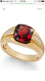 Men's Garnet (5ct. t.w.) & Diamond Accent Ring in 10k Gold in Bolingbrook, Illinois