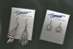 2 Pair Thomas Sterling Silver Earrings in Schaumburg, Illinois