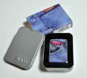"ZIPPO 1996 Denim Watch Pocket ""Jean Red Tab"" lighter in Okinawa, Japan"