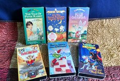 Lot of (9) VHS Children's Movies in Lawton, Oklahoma