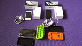 iPhone 4 (16 GB) UNLOCKED Phones with cases with great working condition. in Naperville, Illinois