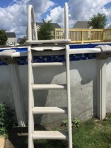 pool stairs w sliding safety lock out in Naperville, Illinois