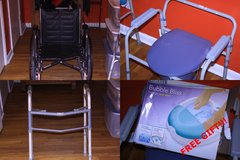 Medical Equipment Wheelchair + Walker + Commode + Foot Spa = $75.00 in Warner Robins, Georgia
