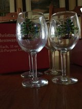 Christmas wine glasses in Naperville, Illinois