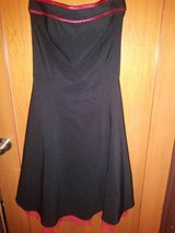 Black strapless dress in The Woodlands, Texas
