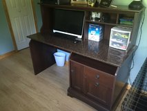 Desk with hutch 59w x 24d x 47.5h in Fort Drum, New York