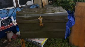 Green Military Metal Trunk in Spring, Texas