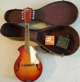 Vintage 1950's Silvertone Mandolin With Hardshell Case Very Good Condition in Naperville, Illinois