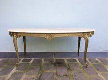antique iron coffee table with marple top in Ramstein, Germany