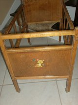 VINTAGE - Whitney Wood Doll Bed in Naperville, Illinois