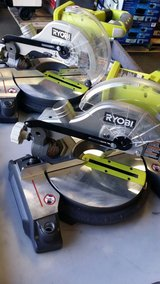 2x Ryobi 18-Volt ONE+ 7-1/4 in. Miter Saw (Tool-Only) in Camp Pendleton, California
