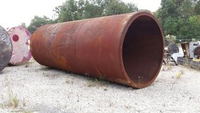 large steel culvert 8'x32' in Kingwood, Texas