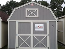 Cook 12x16 Lofted Storage Shed - EASY RENT TO OWN or pay cash in Fort Benning, Georgia